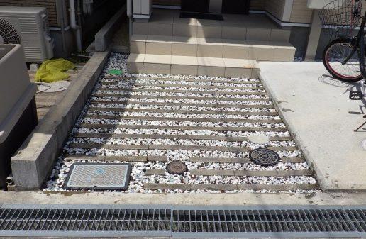 大阪庭作り砂利後