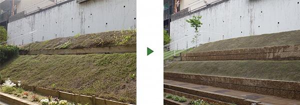 大阪庭作り芝張り