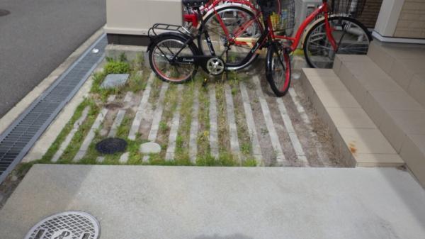 大阪庭作り砂利前