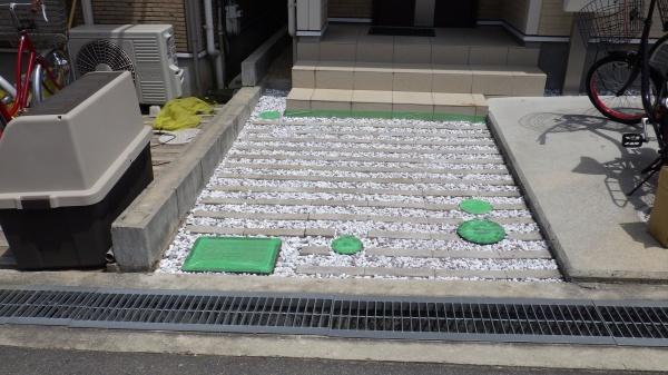 大阪庭作り砂利中
