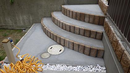 大阪庭作り階段