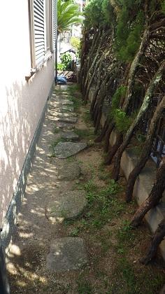 大阪府飛び石施工前
